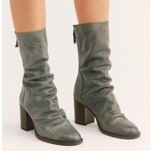NWOT Free People Elle Block Heel Slouchy Boots